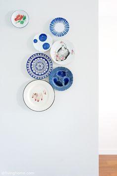 Home tour exclusivo: decoración nórdica en A Coruña · Decoración online para casas con estilo Wall E, Zara Home, Custom Plates, Plates On Wall, House Tours, Just In Case, Gallery Wall, Tablewares, Wall Ideas