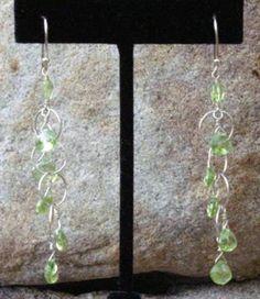 Peridot Drop Earrings by BrownEyedGirlSB on Etsy, $35.00