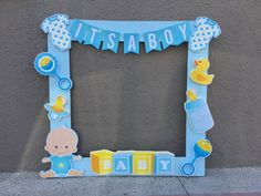 Marco para fotos Baby Shower It's a Boy – Fotorahmen, Babyparty, Es Ist Ein Junge – Juegos Baby Shower Niño, Idee Baby Shower, Baby Shower Bunting, Unisex Baby Shower, Baby Shower Duck, Rubber Ducky Baby Shower, Baby Shower Invitaciones, Shower Bebe, Baby Shower Photo Frame