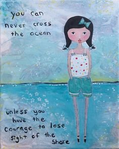 Original Whimsical Mixed Media Ocean Sea Side by naomisnotions, $40.00