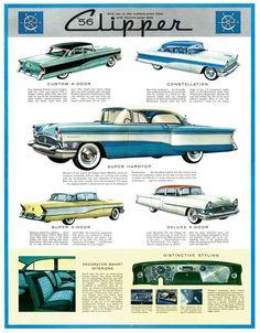 Old Print 1956 Packard Caribbean Convertible Car Ad