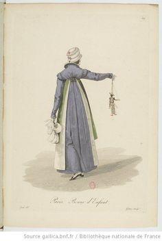 Bonne d'Enfant from Georges-Jacques Gatine, Costumes d'ouvrières parisiennes, 1824, BNF Paris