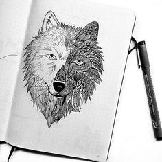 Guys how has your week been so far? I'm feeling like the days are flying by - work, workout, some drawing, cooking, eating and watching series and another day is over 🙌🏼 some of you asked me to show a close up of my thank you wolf 😊 i think i have a new favorite spread in my bullet journal 😬 . . . #bulletjournal #bujo #creative #calligraphy #bujobeauty #bujojunkie #bujolove #bujosetup #bujodrawing #bujodoodles #doodles #doodle #zentangle #zentangleart #bulletjournals #bulletjournalss…