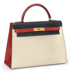 tricolour box hermes kelly bag. LOVE all kellys regardless :)