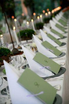 Servettvikning+program Decoration for country wedding Allt om Bröllop   Duka grönt