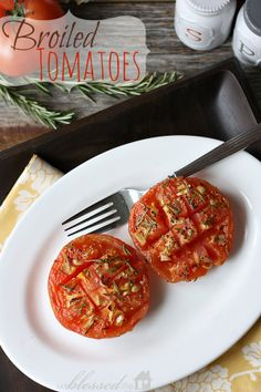 Delicious Broiled Tomatoes | MyBlessedLife.net