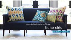 LOVE this navy velvet sofa by Annette Tatum