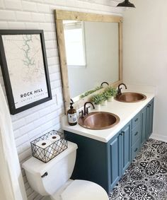 Diy Bathroom Remodel, Bathroom Renos, Bathroom Sink Decor, Guest Bathroom Colors, Basement Bathroom Ideas, Small Master Bathroom Ideas, Downstairs Bathroom, Pool House Bathroom, Bathroom Remodeling