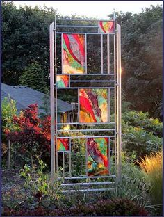 Attirant Roger Thomas Glass Studio   COMMISSIONS: Opus 486. Garden Stele Stained  Glass Panels,