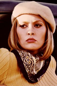 ** Bonnie: The length hair wearing a beret Faye Dunaway in Bonnie & Clyde is simply unforgettable.
