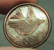 CARVED MOP PEARL SHELL BUTTON  ~  BIRD  FABULOUS!