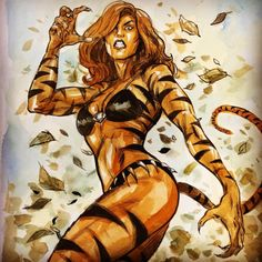 Tigra (Greer Nelson) - Ryan Kelly Formerly the Cat Marvel Comics Marvel Comic Character, Comic Book Characters, Comic Book Heroes, Marvel Characters, Comic Books Art, Comic Art, Character Art, Arte Dc Comics, Marvel Comics Art