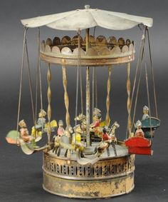 Lot # : 361 - CAROUSEL WITH HORSES AND SWINGS