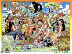 color spread for chapter 784 of ONE PIECE