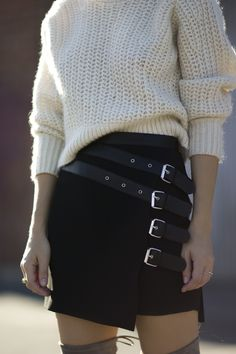 The Kooples buckle skirt