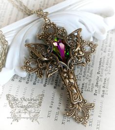 THE COVENANT romantic Victorian cross by TheVictorianGarden, $52.00
