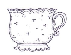 ..gorgeous little tea cup for embroidery or painting