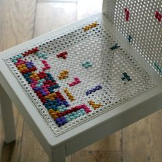 21 Creative Cross Stitch Projects - Crafting For Holidays Cross Stitching, Cross Stitch Embroidery, Cross Stitch Patterns, Second Hand Furniture Shop, Old Wicker, Le Point, Crafty, Sewing, Decoration