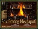 Hangulatos képeslap vörösborral és lobogó tűzzel. Red Wine, Alcoholic Drinks, Glass, Drinkware, Corning Glass, Liquor Drinks, Alcoholic Beverages, Liquor, Yuri