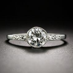 .68 Carat Platinum and Diamond Solitaire Engagement Ring