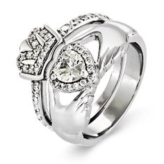 The 157 Best Claddagh Rings Images On Pinterest Claddagh Rings