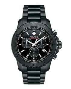 N3EXG Movado Series 800 Chronograph Watch, Black