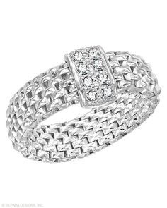 Made in Italy.  A truly legendary look.  Cubic Zirconia and sterling silver.  Item # R2980  www.mysilpada.com/arlene.householder