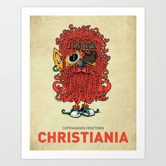 Christiania I Art Print by copenhagen poster - $17.68