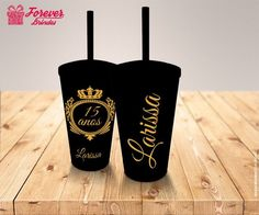 Mds que lindinho! 13th Birthday Parties, 65th Birthday, Debut Planning, Cherry Blossom Party, Sweet Fifteen, Horror Party, Quinceanera Themes, Personalized Photo Gifts, Cute Cups