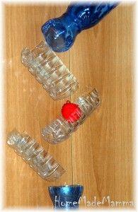 Giochi creativi: la pista di biglie con bottiglie di plastica