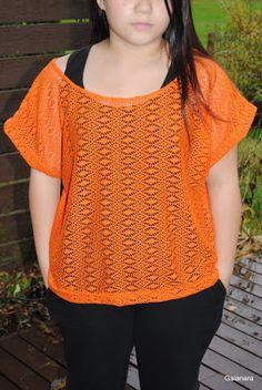 """Orange """"lace"""" shirt"""