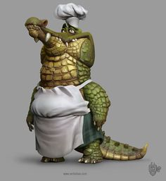 Crock Master Chef, Martin Punchev on ArtStation at… 3d Model Character, Character Drawing, Character Concept, Concept Art, Character Design, Cartoon Drawings, Cartoon Art, Cartoon Characters, Cartoon Monsters