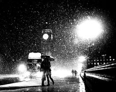 London night rain