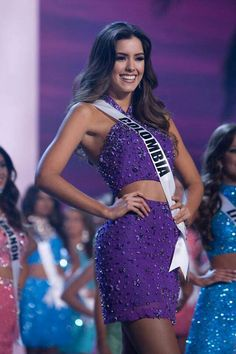 Paulina Vega entre las 15 finalistas. Beautiful Latina, Most Beautiful Women, Amazing Women, Miss Universe 2014, Miss Pageant, Miss World, Beauty Pageant, Beauty Queens, Celebrity Weddings