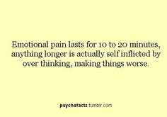 I try not to over think. Psychology Says, Psychology Quotes, Quotes To Live By, Me Quotes, Brain Facts, Emotional Pain, Wtf Fun Facts, Look At You, Good To Know