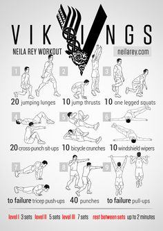 """Workout inspired by the TV show """"Vikings"""" Neilarey.com"""
