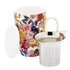 "It's easy to brew your favourite loose-leaf teas—at home or on-the-go—with our Perfect Tea Mug. Back for spring in a fresh floral design, it has a sleek, generously sized profile along with an integrated stainless steel infuser for perfectly brewed tea (and no stray leaves) every time. It comes beautifully boxed and makes a great gift for any tea love. 15.2-oz./450 ml capacity. 3.5"" diameter, 5"" tall. Porcelain, stainless steel. Dishwasher and microwave safe. Available only at Indigo."