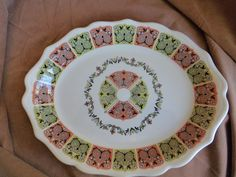 Syracuse China Coral 'N Jade Platter 10 inch 98-G USA #SyracuseChina Syracuse China, Decorative Plates, Coral, Retro, Platter, Tableware, Jade, Dishes, Dining
