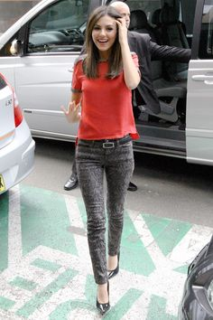 Victoria Justice appeared in Sydney, Australia wearing the Joe's Black Collection Skinny in Gracie | November 12, 2012