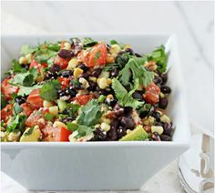Your kids will be clamoring for more of this black bean salad that uses fresh tasty ingredients.