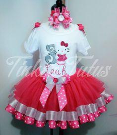 Hello Kitty Dress Hello Kitty Tutu Hello by CrownMeRoyalBoutique