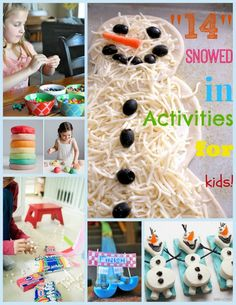 """""""14 Snowed In Activities for Kids!"""" #kidsactivities #snowedinactivities #kidsgames"""