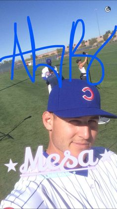 Anthony Rizzo @ Cubs spring training via Cubs snapchat