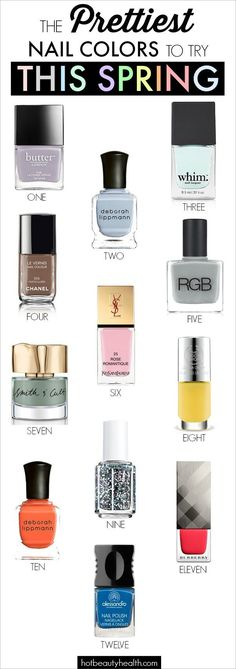 We made our predictions for the prettiest nail polish colors that everyone will be obsessed with this spring
