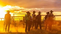 Lake Nash workers wrap up another long day on the remote Australian cattle property at Lake Nash. (Image: Courtesy of Saul Goodwin)