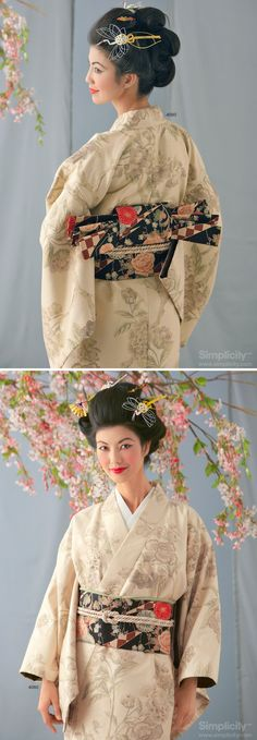 Beautiful and Artistic Geisha Maiko Costume  #Halloween #SimplicityPatterns