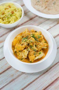 Gobi masala | Vegavarazs Risotto, Curry, Ethnic Recipes, Food, Cilantro, Curries, Essen, Meals, Yemek
