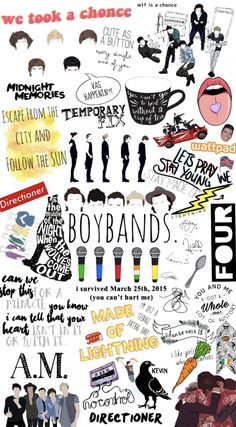 Arte One Direction, One Direction Photoshoot, One Direction Collage, Four One Direction, One Direction Cartoons, One Direction Drawings, One Direction Lockscreen, One Direction Posters, One Direction Imagines