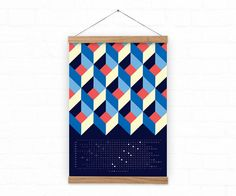 2017 wall calendar  Squares Calendar 2017  abstract by DURIDO