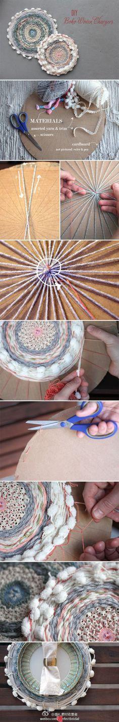 Boho coasters or rug tutorial // diy alfombrillas bohemias
